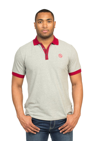 """HEALDSBURG"" POLO SHIRT IN HEATHER GREY - Poor Little Rich Boy"