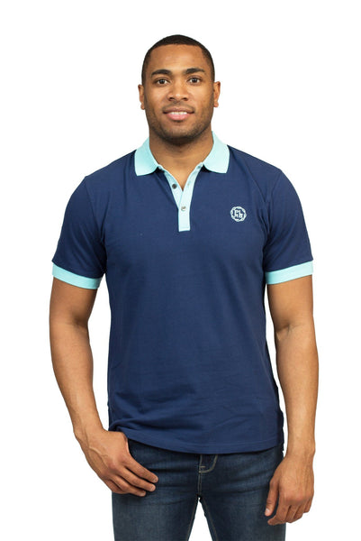 """HEALDSBURG"" POLO SHIRT IN NAVY BLUE - Poor Little Rich Boy"