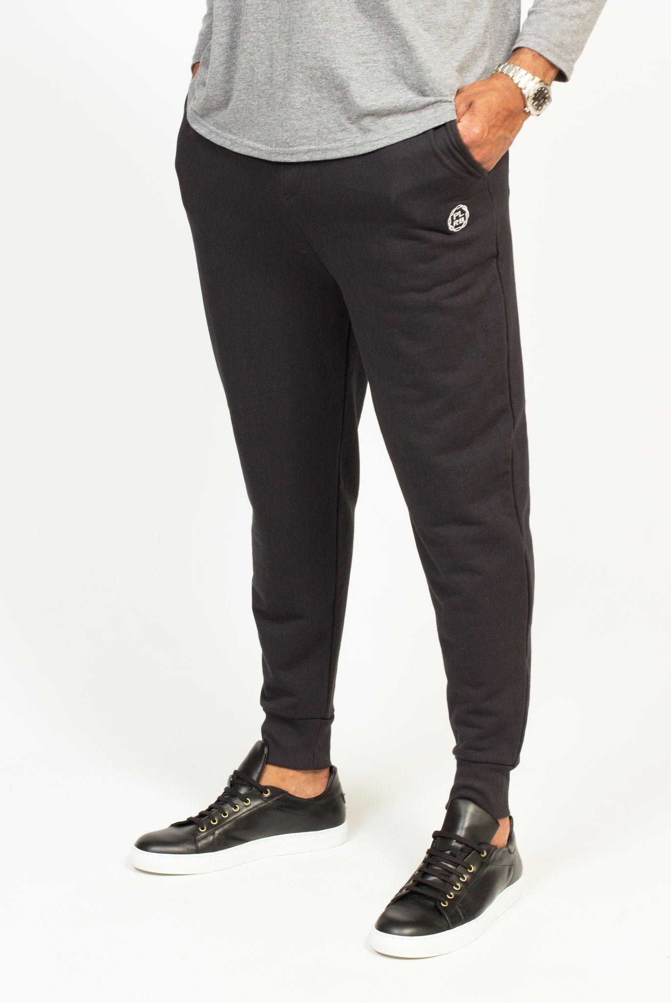 PLRB FLEX BLACK JOGGERS | Poor Little Rich Boy Clothing