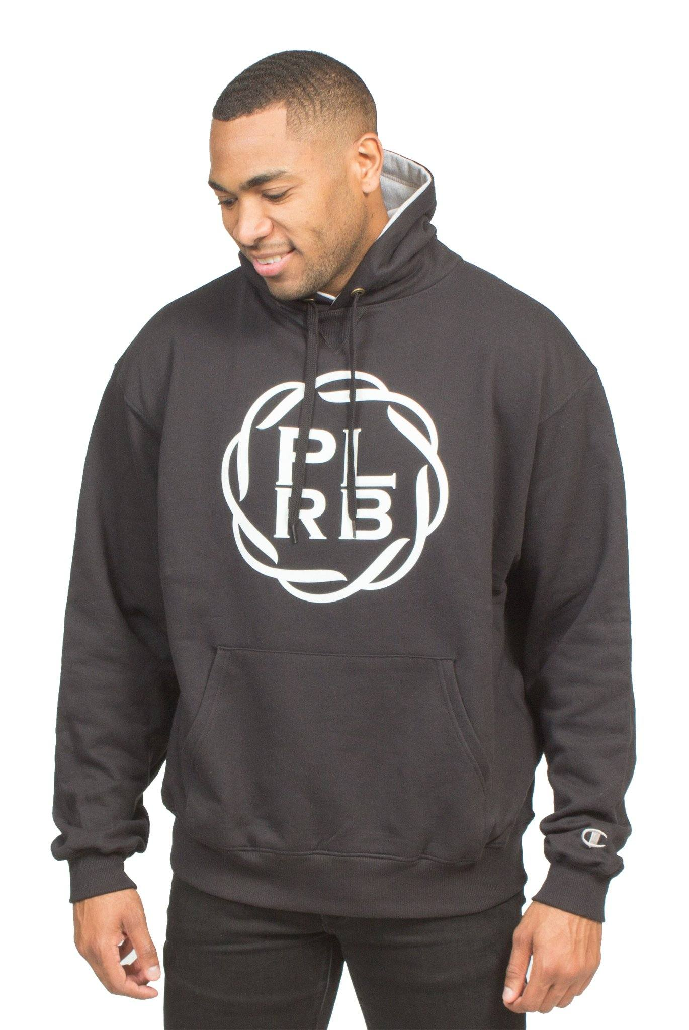 CHAMPION BIG FACE PLRB OVERSIZED HOODIE IN BLACK | Poor Little Rich Boy Clothing