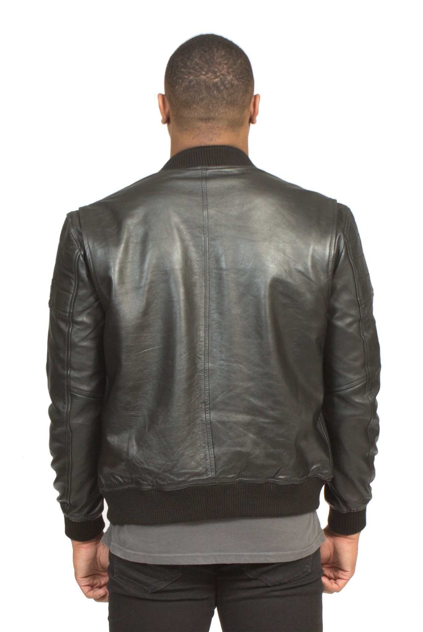 727209a40 Black Lambskin Leather Racer Jacket   Jackets and Outerwear – Poor ...