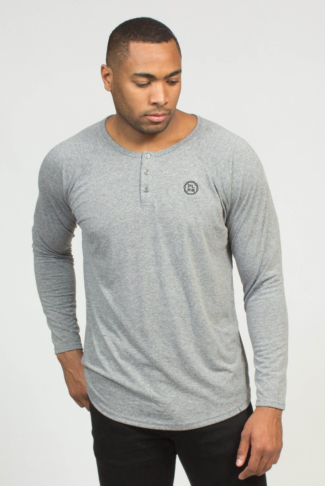 TYSON HEATHER GREY HENLEY | Poor Little Rich Boy Clothing