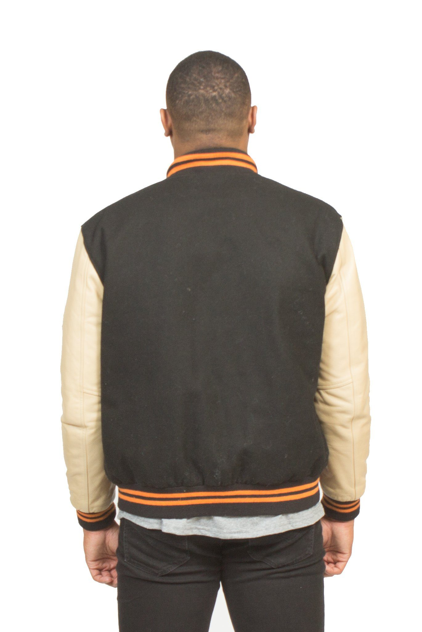 """ALL CITY"" VARSITY JACKET IN BLACK"
