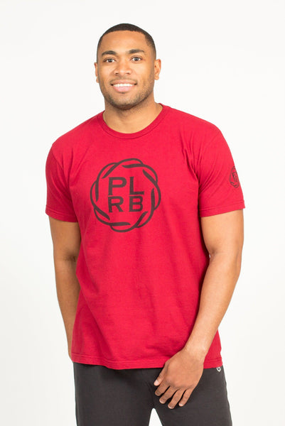 PLRB LOGO T-SHIRT IN CRANBERRY | Poor Little Rich Boy Clothing