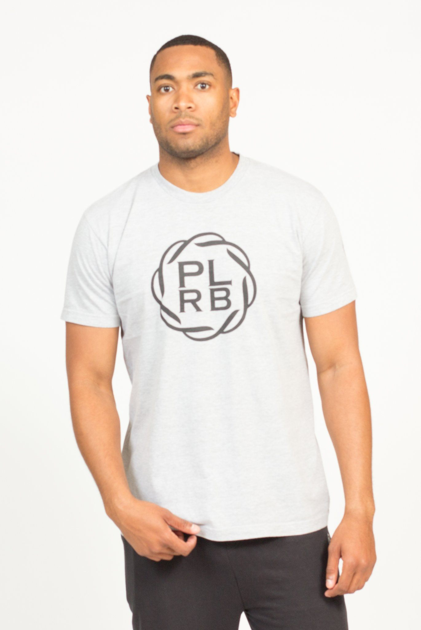 PLRB LOGO T-SHIRT IN HEATHER GREY | Poor Little Rich Boy Clothing