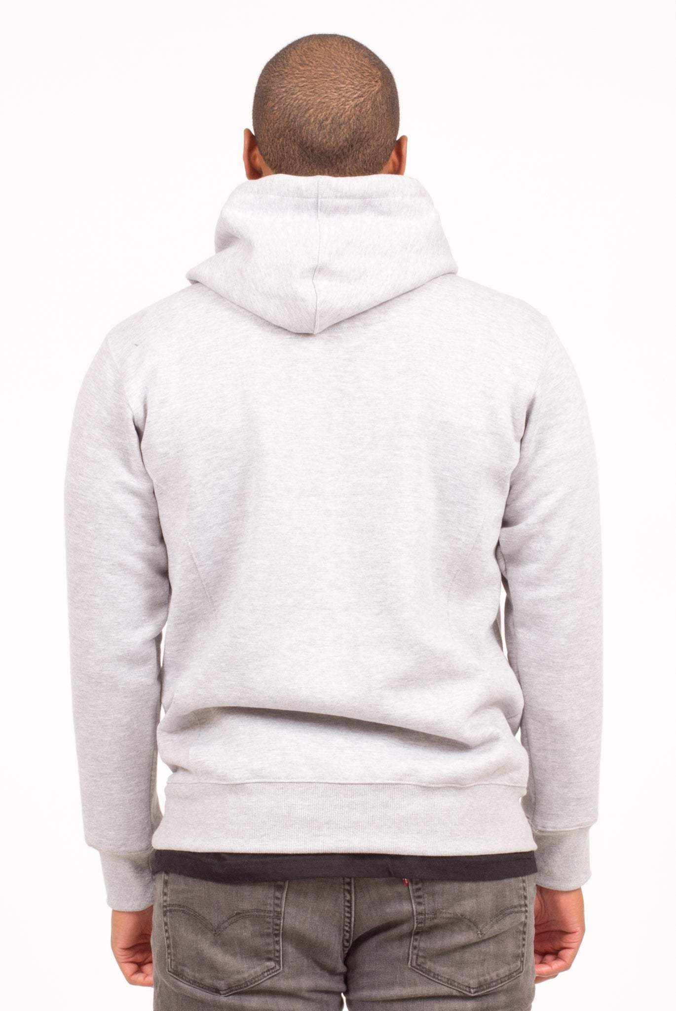 STORM FLAP HOODIE IN HEATHER GREY OR BLACK | Poor Little Rich Boy Clothing