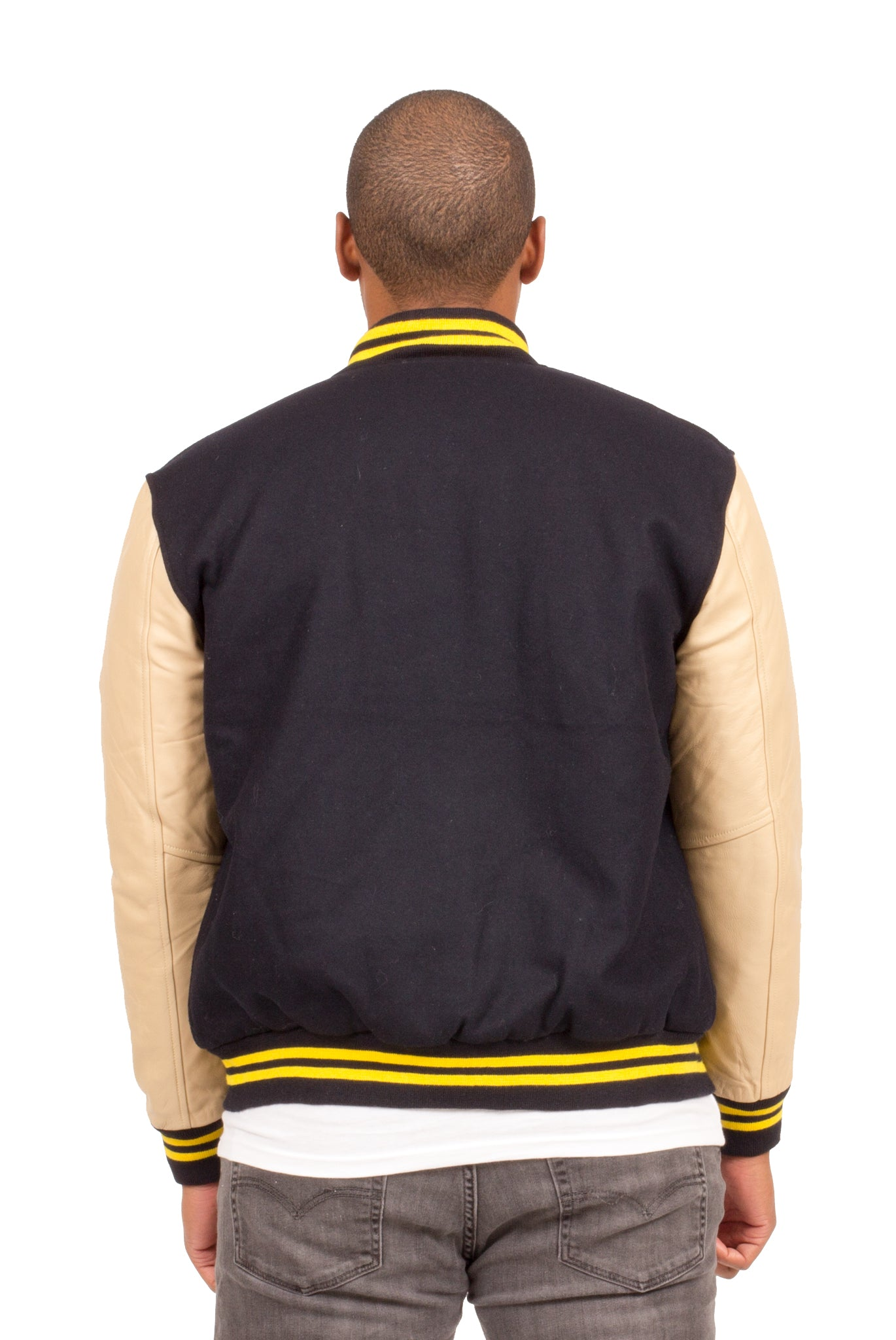 ALL CITY VARSITY JACKET IN NAVY BLUE | Poor Little Rich Boy Clothing