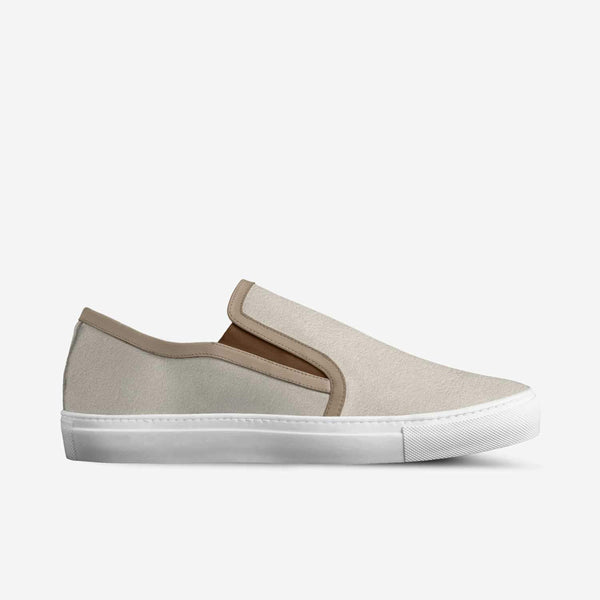 "THE PLRB ""ROYAL"" SUEDE SLIP ON IN BEIGE - Poor Little Rich Boy"