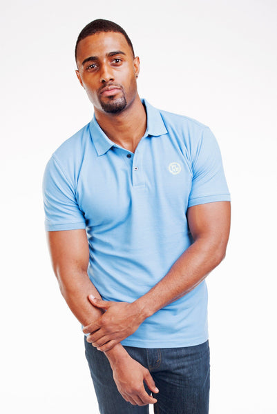 Poor Little Rich Boy Aqua Classic Pique Polo Shirt
