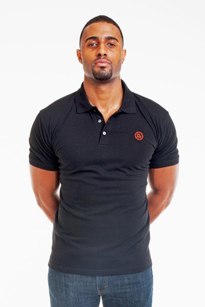 Poor Little Rich Boy Black Classic Pique Polo Shirt