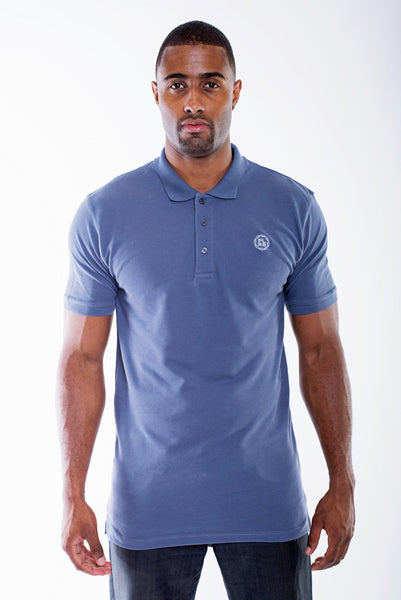 GREY CLASSIC PIQUE POLO - TALL | Poor Little Rich Boy Clothing