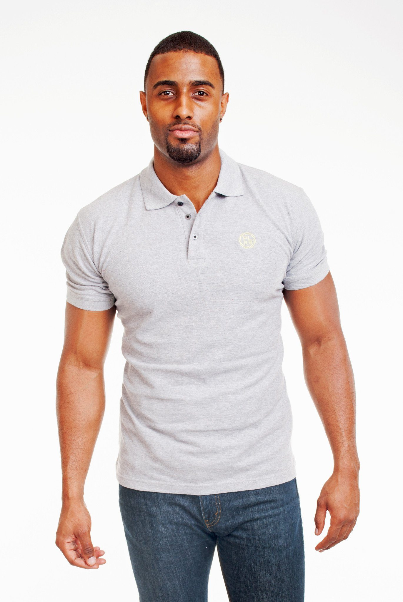 Poor Little Rich Boy Heather Grey Classic Pique Polo Shirt