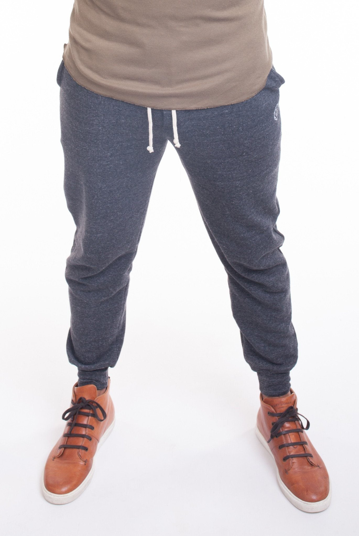 DARK HEATHER GREY JOGGERS | Poor Little Rich Boy Clothing