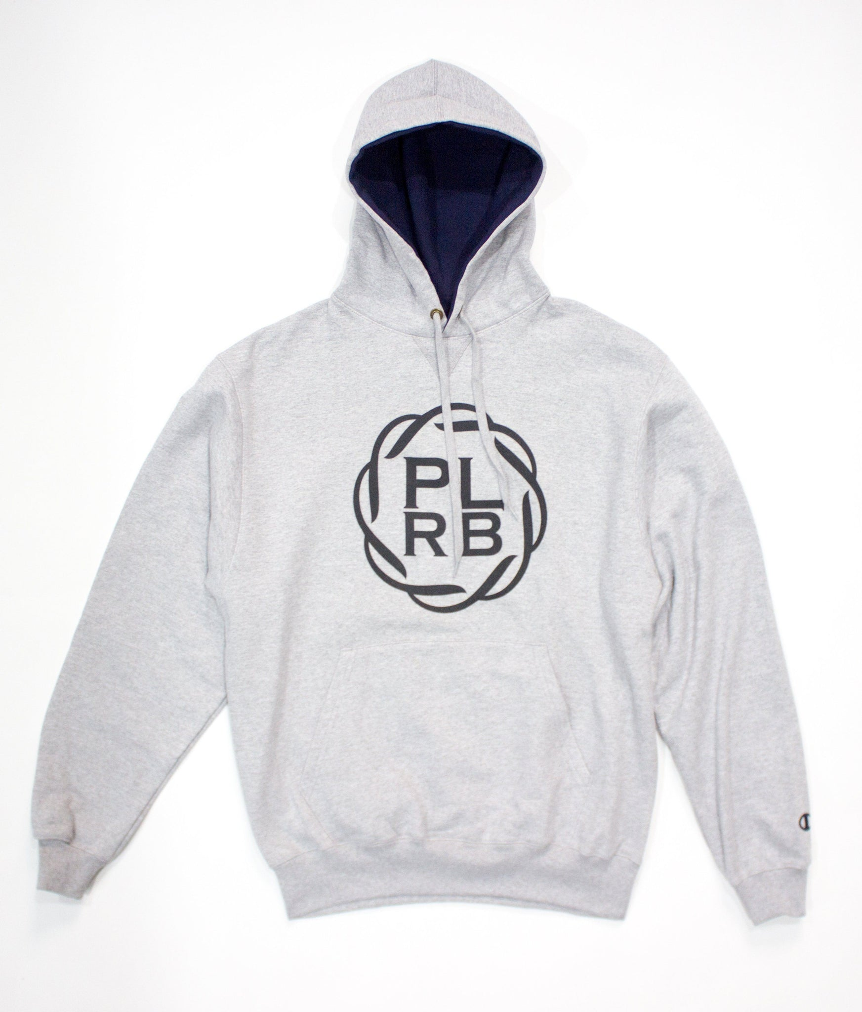 CHAMPION BIG FACE PLRB OVERSIZED HOODIE IN STEEL | Poor Little Rich Boy Clothing
