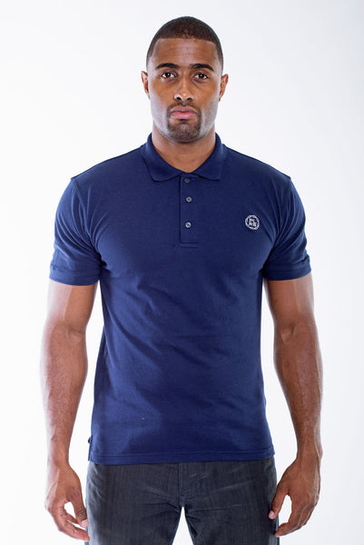 Poor Little Rich Boy Navy Classic Pique Polo Shirt