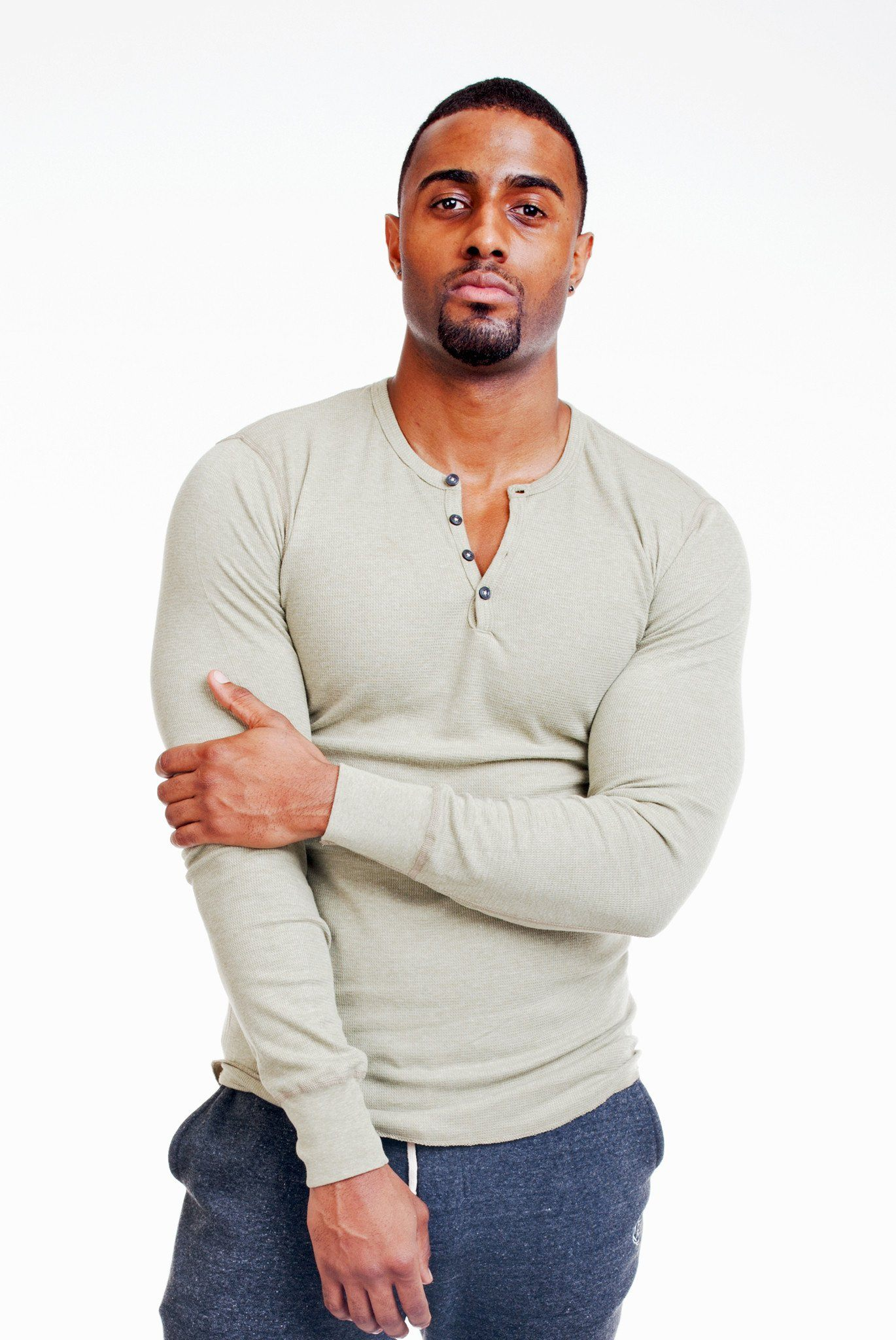 Poor Little Rich Boy Long Sleeve Olive Henley - Poor Little Rich Boy Men's Casual Shirts - Plrbclothing.com