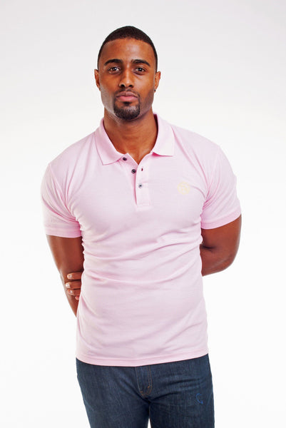 Poor Little Rich Boy Pink Classic Pique Polo Shirt