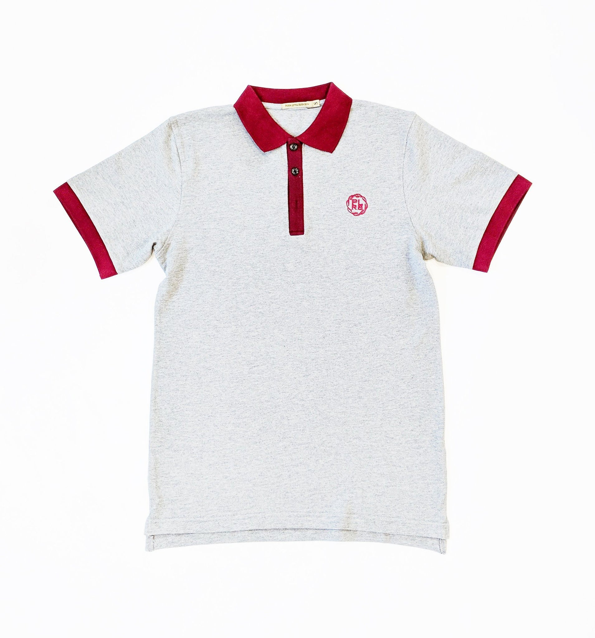 """HEALDSBURG"" POLO SHIRT IN HEATHER GREY"