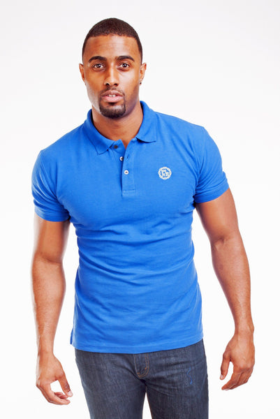 Poor Little Rich Boy Royal Blue Classic Pique Polo Shirt