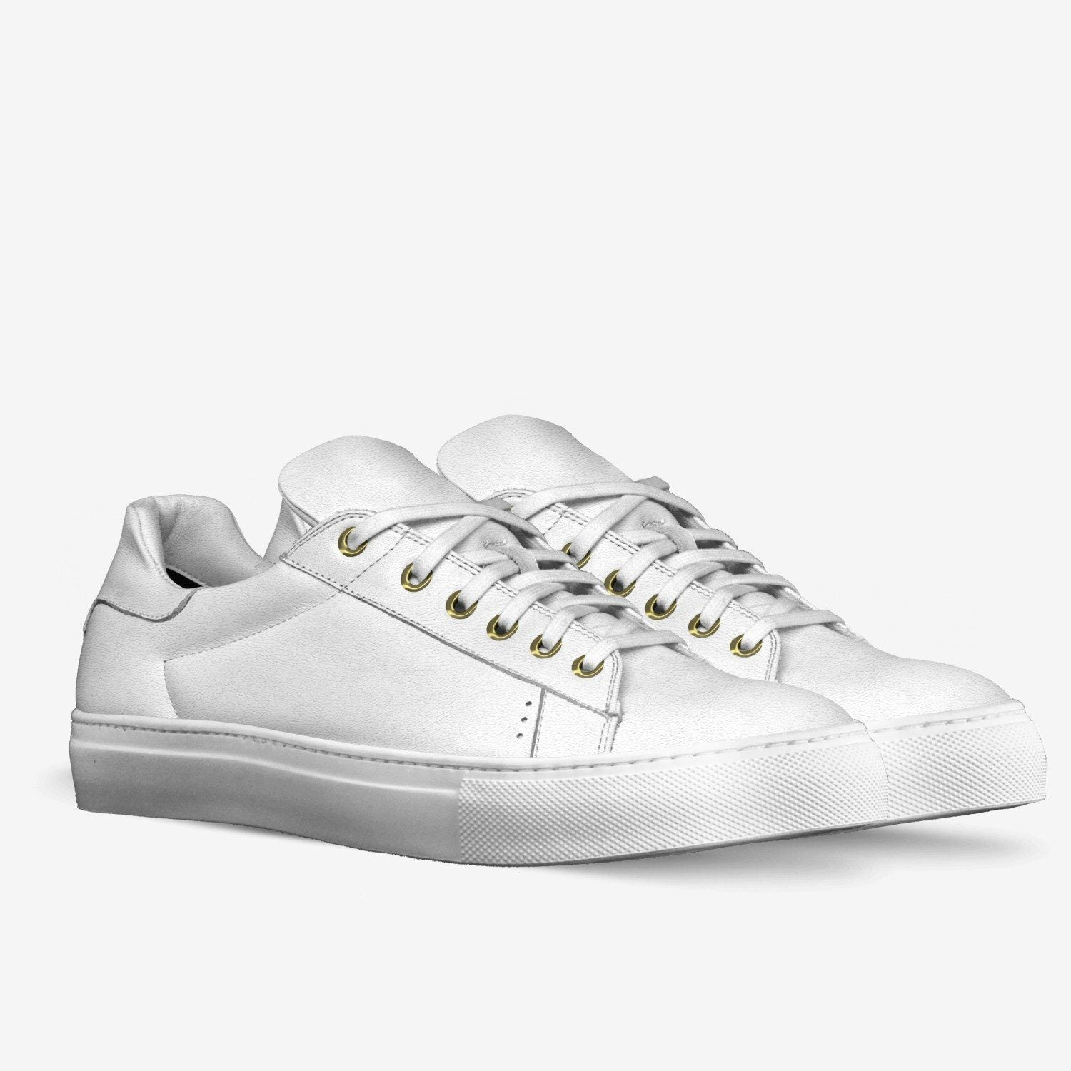 Poor Little Rich Boy Lorenzo Leather Sneakers in Milk White - Poor Little Rich Boy Men's Shoes - Plrbclothing.com