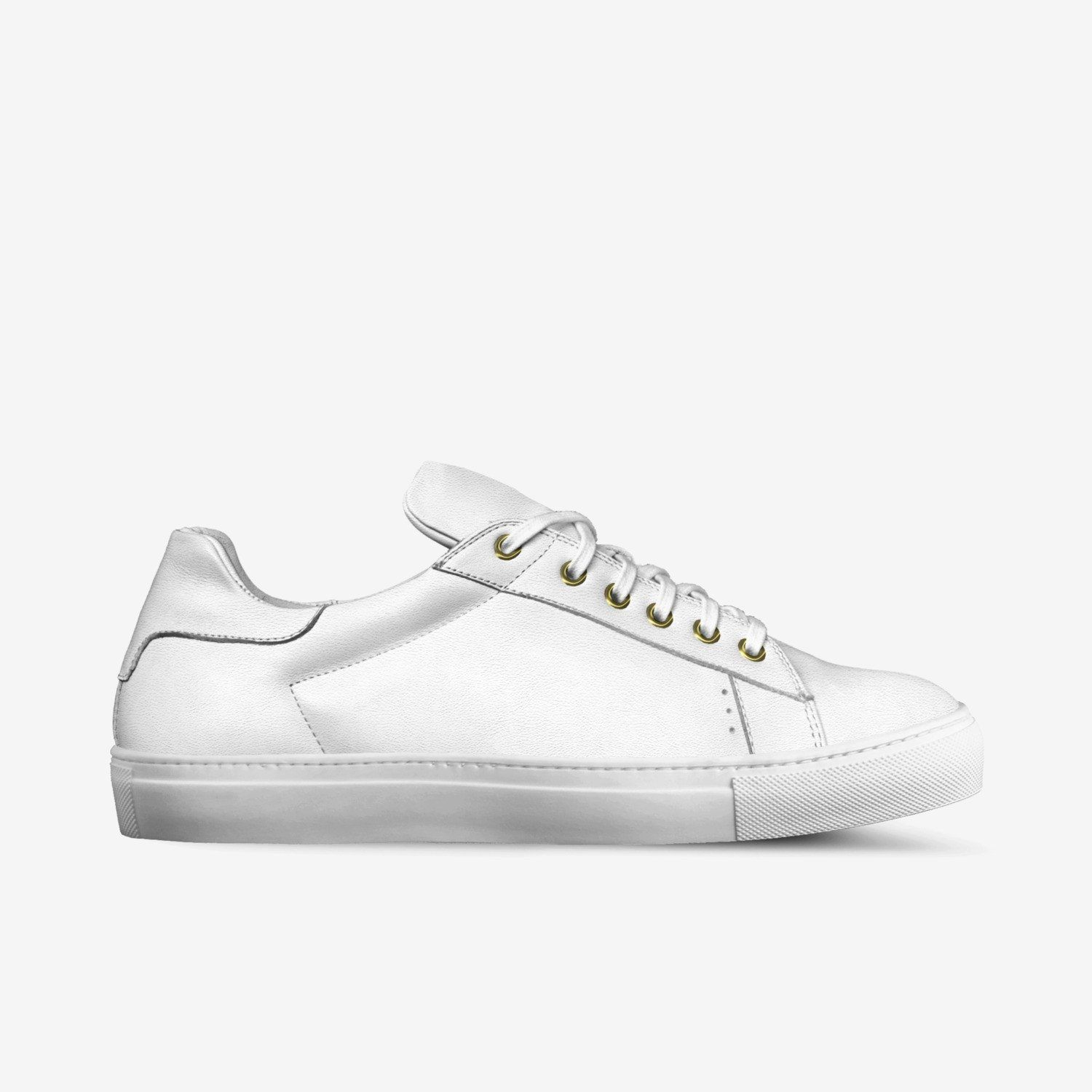 LORENZO LEATHER SNEAKERS IN MILK WHITE | Poor Little Rich Boy Clothing