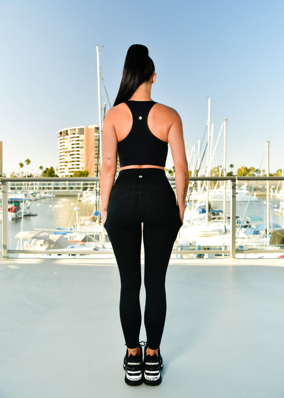Scheana Shay - 7/8 Pocket Legging - Salem Black