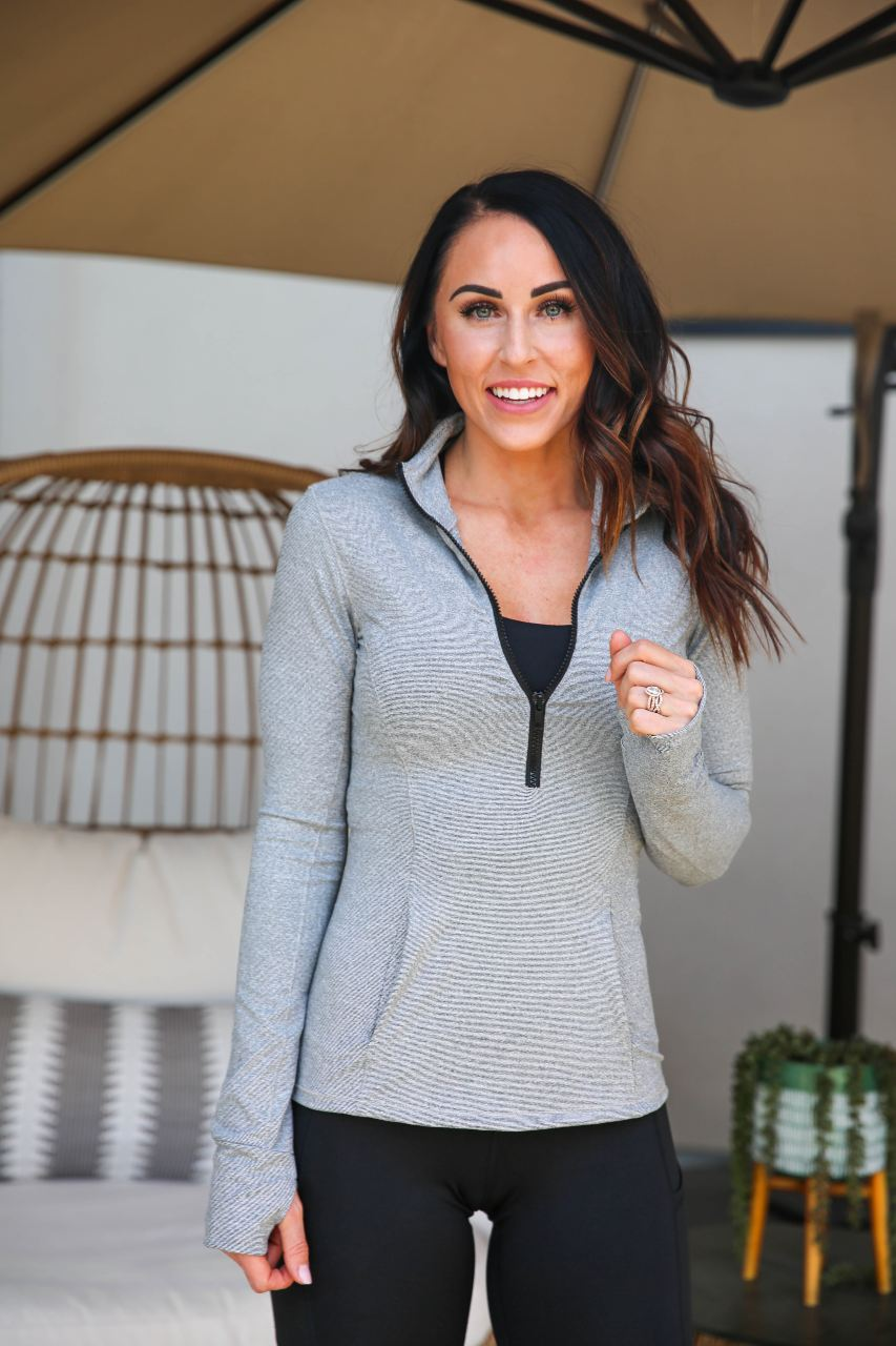 Half Zip Pull-Over - London Grey, Paleomg
