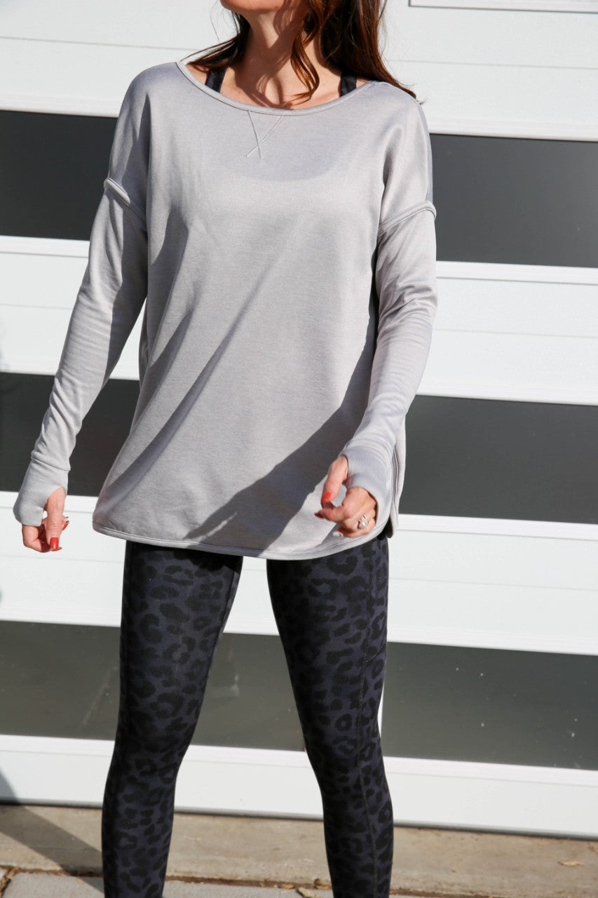 LoveMe Pullover Sweatshirt - Light Heather Grey, Paleomg