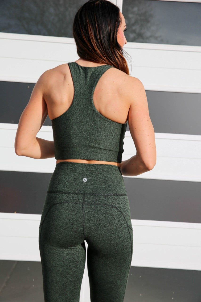 Pocket Leggings - Hunter Green, Paleomg