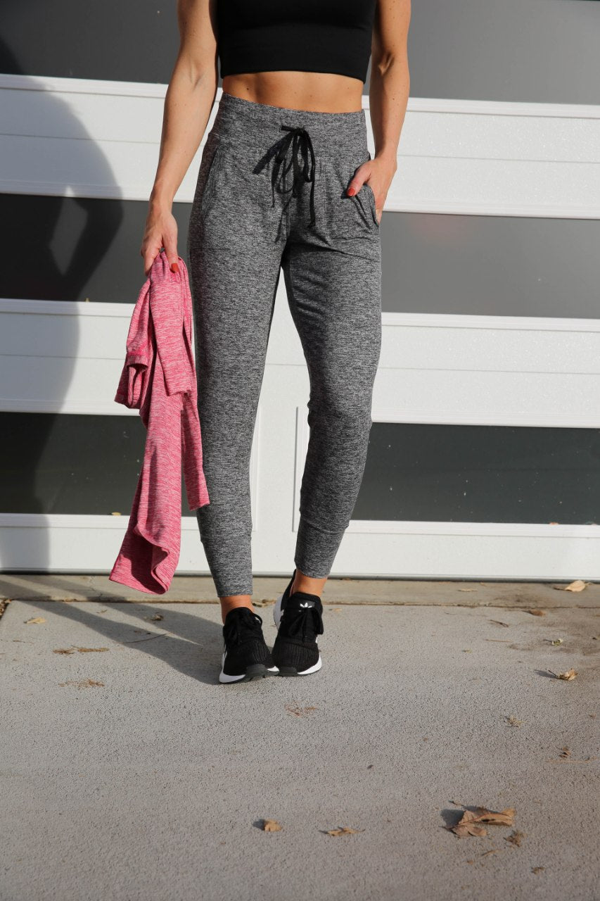 Good Times Jogger -  Heather Grey, Paleomg