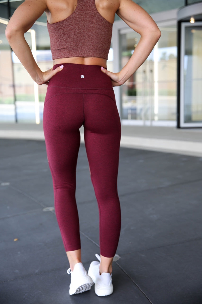 PaleOMG Omni Cloud Contour - 7/8 Legging - Brick Red & Burgundy