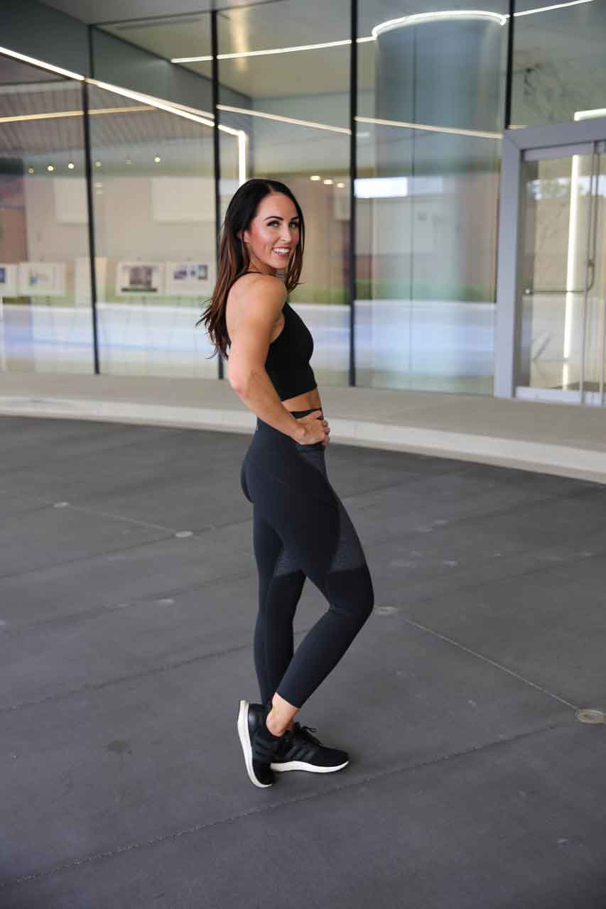 PaleOMG Omni Cloud Contour - 7/8 Legging - Black & Charcoal