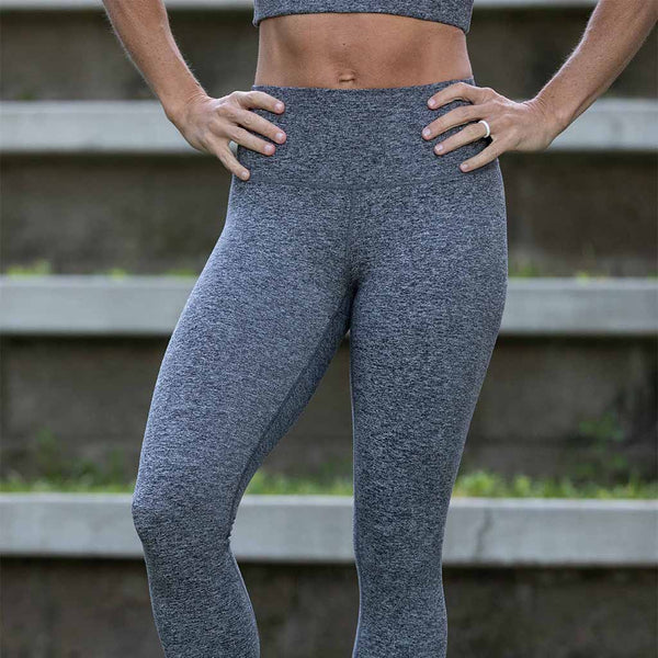 Omni Cloud 7/8 Legging - Heather Grey