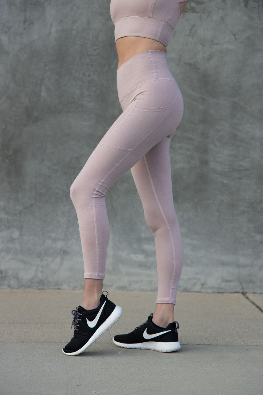 7/8 Pocket Leggings - Dusty Rose