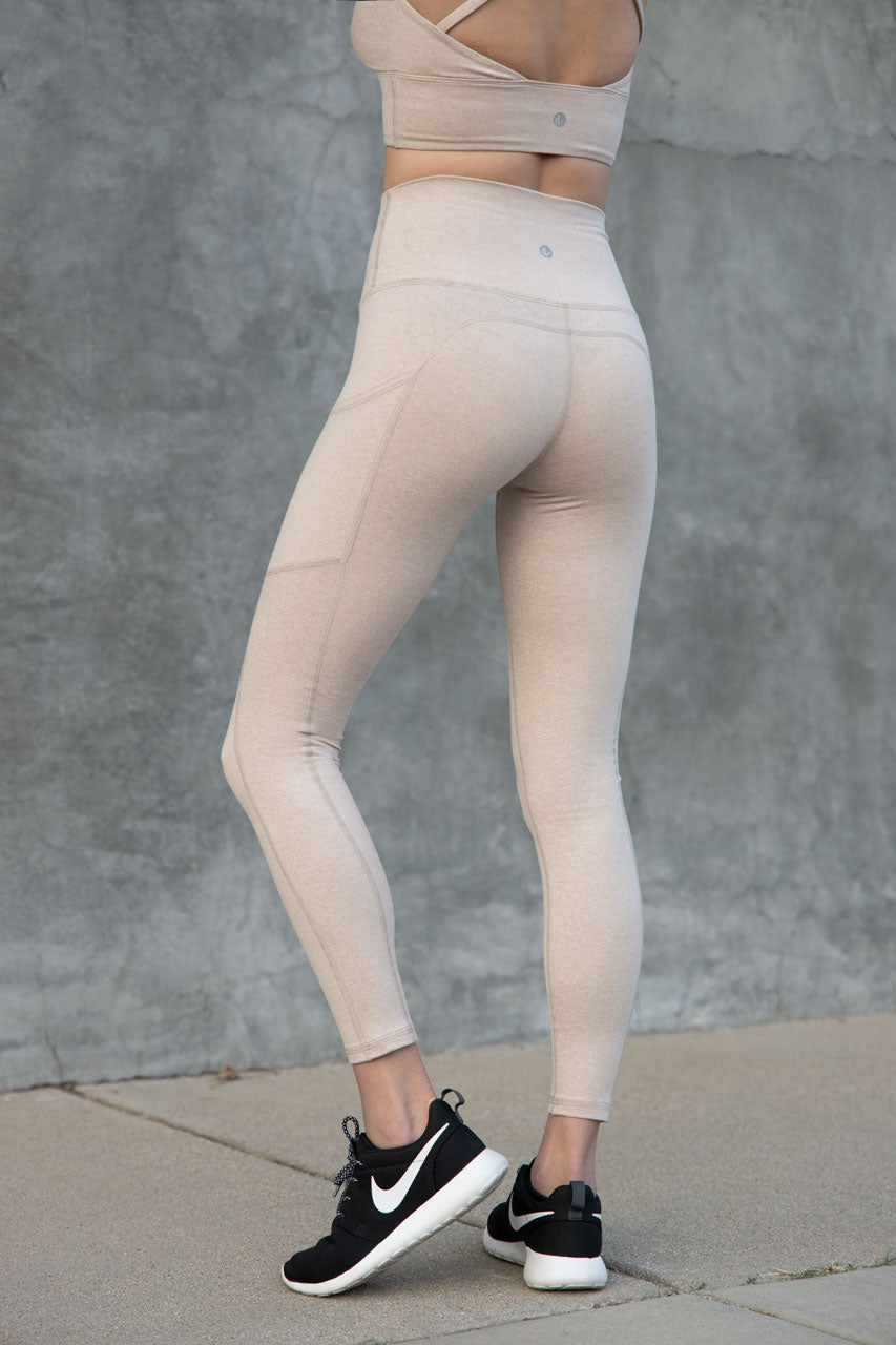 7/8 Pocket Leggings - Desert Sand