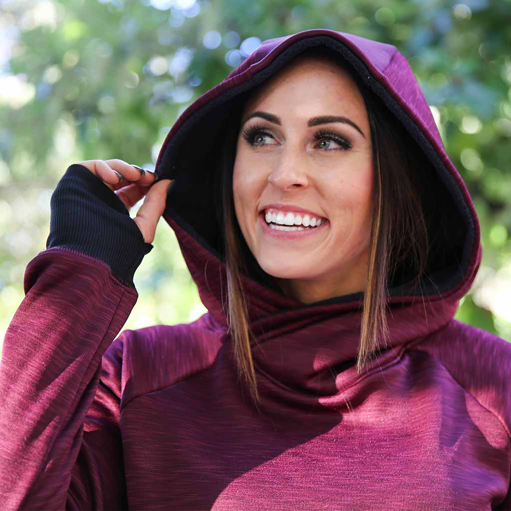Paleomg THERMOLITE® CORE Hoodie - Heather Merlot
