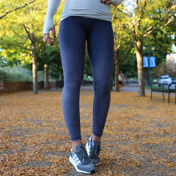 Tahoe Blue Ombre Leggings -  High Waist, 7/8ths Paleomg