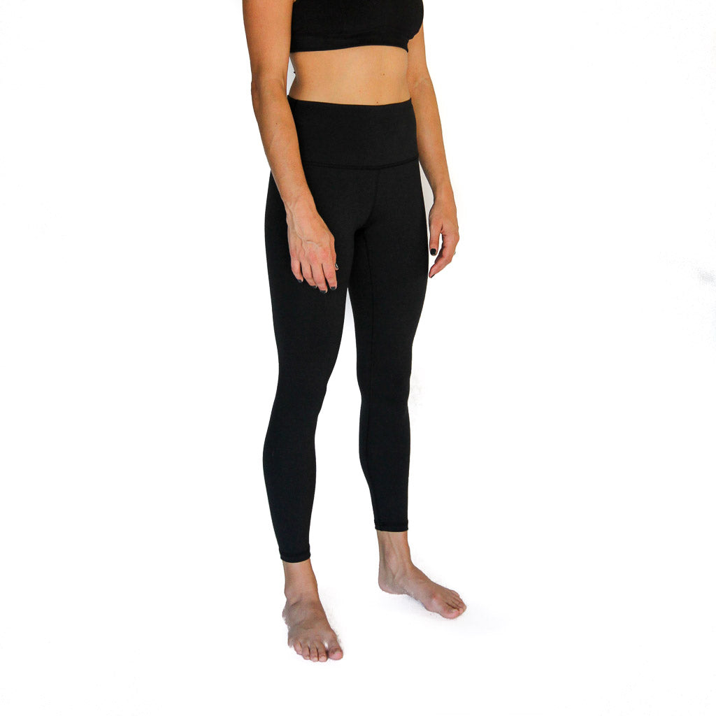 Rise Up Legging Black - High Waist, 7/8 length