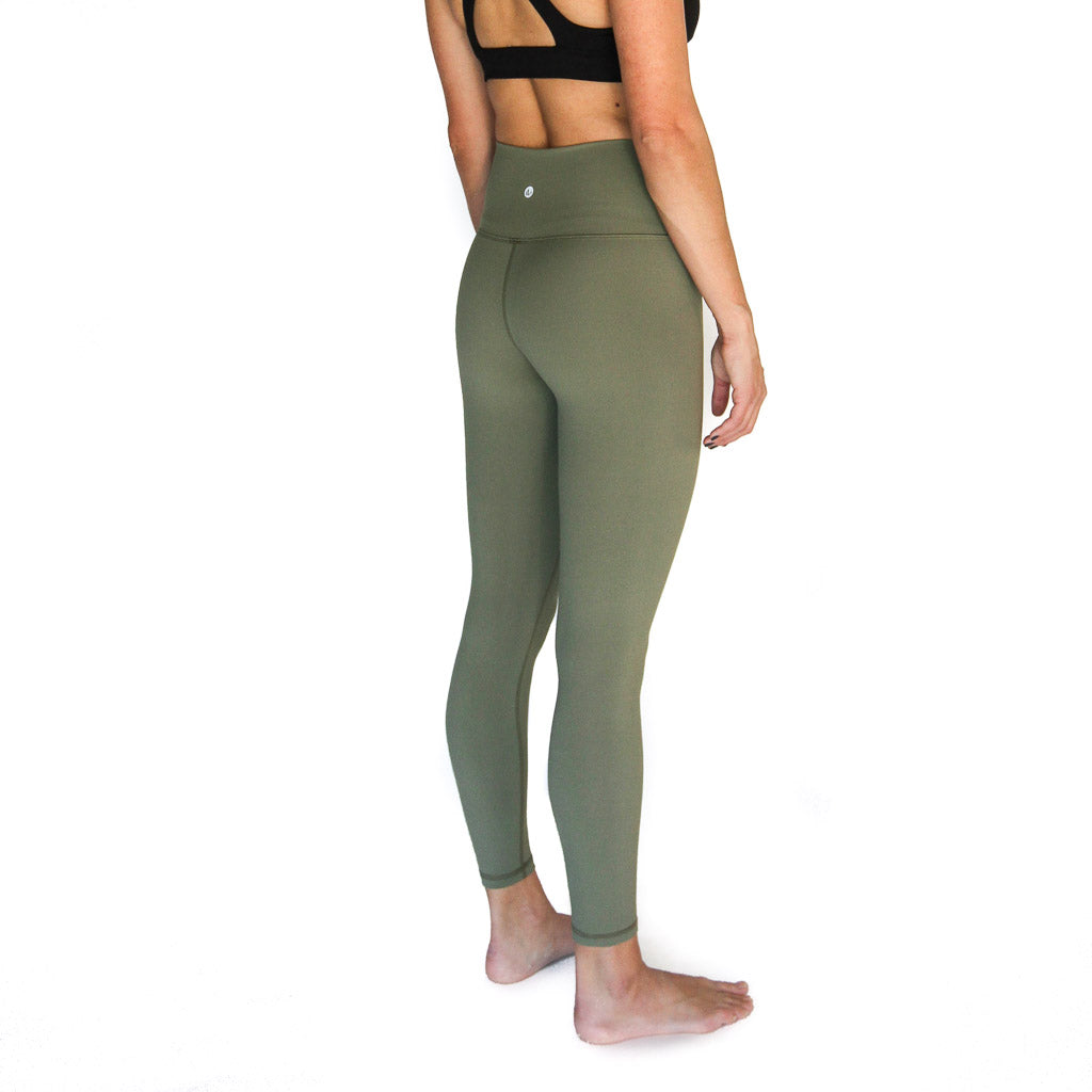 Rise Up Legging Olive - High Waist, 7/8 length