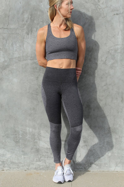 Omni Cloud Contour  - 7/8 Legging - Heather Grey & Charcoal