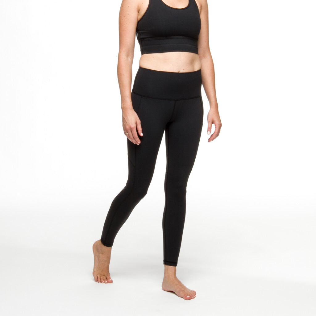 PaleOMG Black 7/8 Legging -  High Waist, w/ Side Pockets