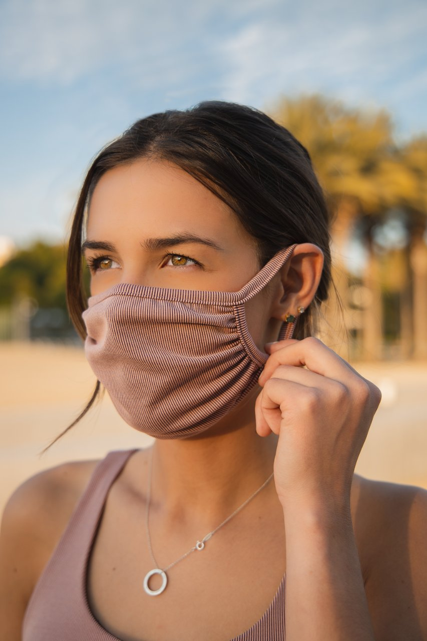 Face Mask - Ribbed Fabric, New Colors