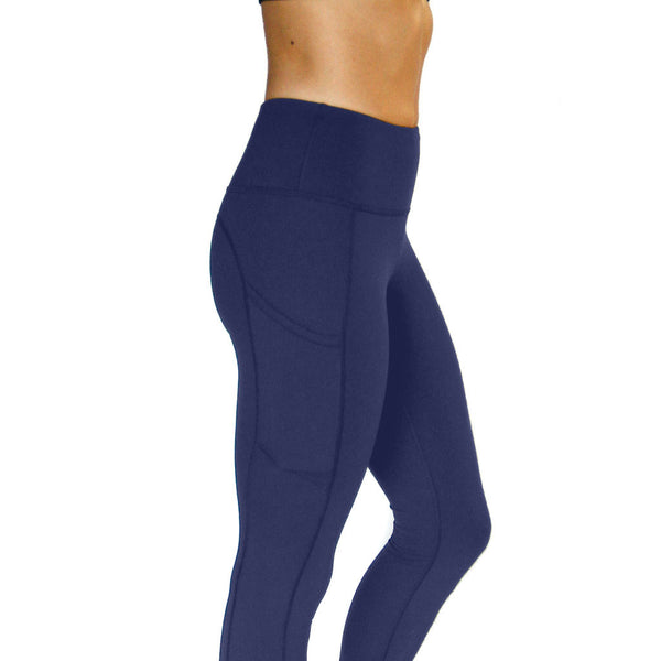 All Day Legging Navy - High Rise w/ Side Pockets