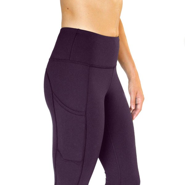 All Day Legging Eggplant - High Rise w/ Side Pockets