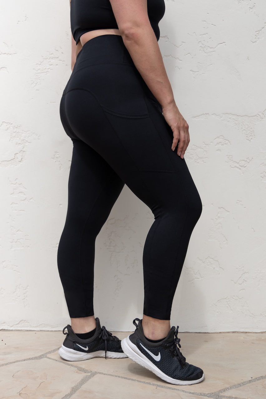 7/8 Pocket Leggings - Black, PaleOMG