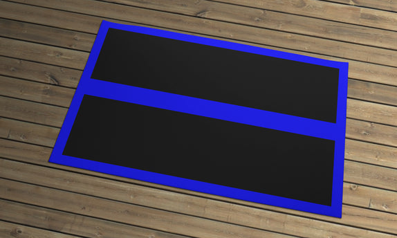 Thin Line - Door Mat - Black Bars
