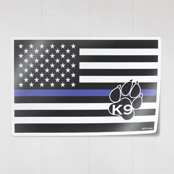 Thin Line - K9 Flag - Decal