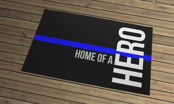 Thin Line - Door Mat - Home of a Hero 2