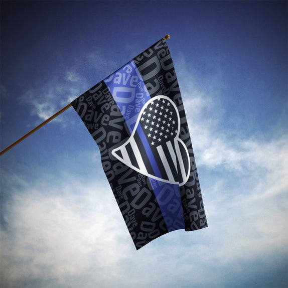 Hero Name - Dark 3'x5' Flag