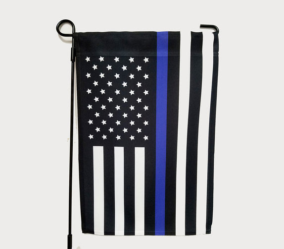 Community Give Back - 12'' x 18'' Police Garden Flag - Bo15 | Custom Shirts | Custom Gear | Design Your Own